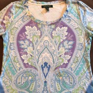 Pretty paisley Ralph Lauren tee shirt